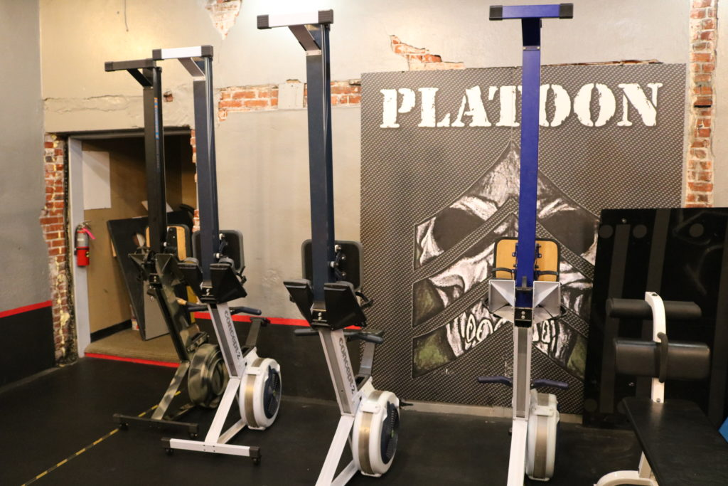 Rowing Machines at Platoon Fitness Bryn Mawr.